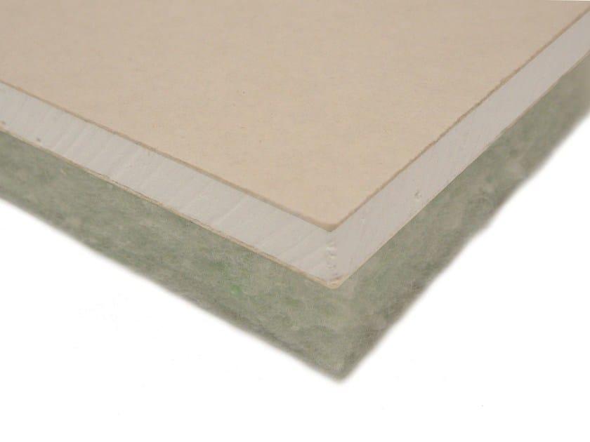 Acoustic gypsum plasterboard ISOLGYPSUM GP - Isolmant - TECNASFALTI