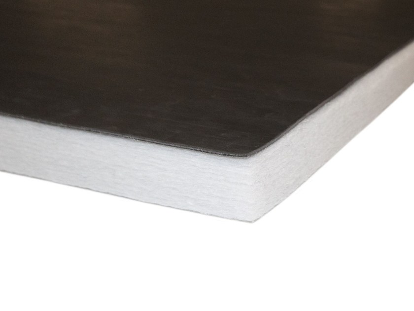 Polyester fibre Sound insulation and sound absorbing panel in mineral fibre ISOLMANT PERFETTO RB - Isolmant - TECNASFALTI