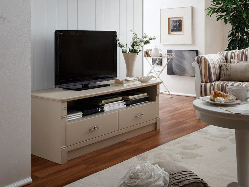 Wooden TV cabinet with drawers ITALIAN MOOD | TV cabinet - Callesella Arredamenti S.r.l.
