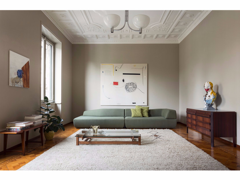 Upholstered fabric sofa ITALO   3 seater sofa by Minimomassimo