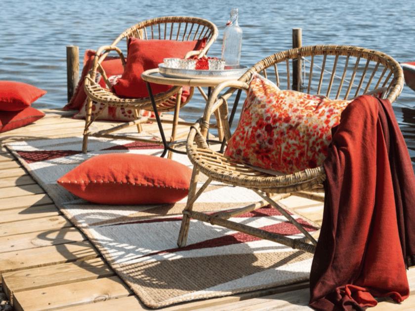 Rectangular jute rug with geometric shapes ITASCA - Élitis