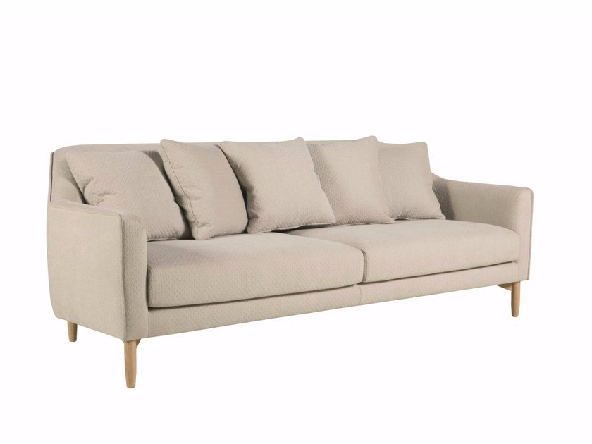 Upholstered 3 seater fabric sofa IVY | 3 seater sofa - SITS