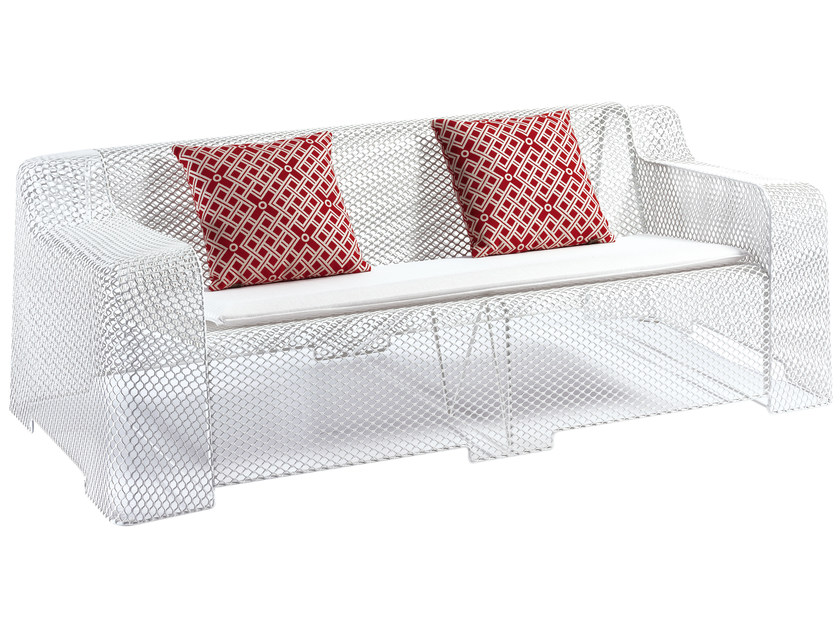Steel garden sofa IVY | 2 seater sofa - EMU Group S.p.A.