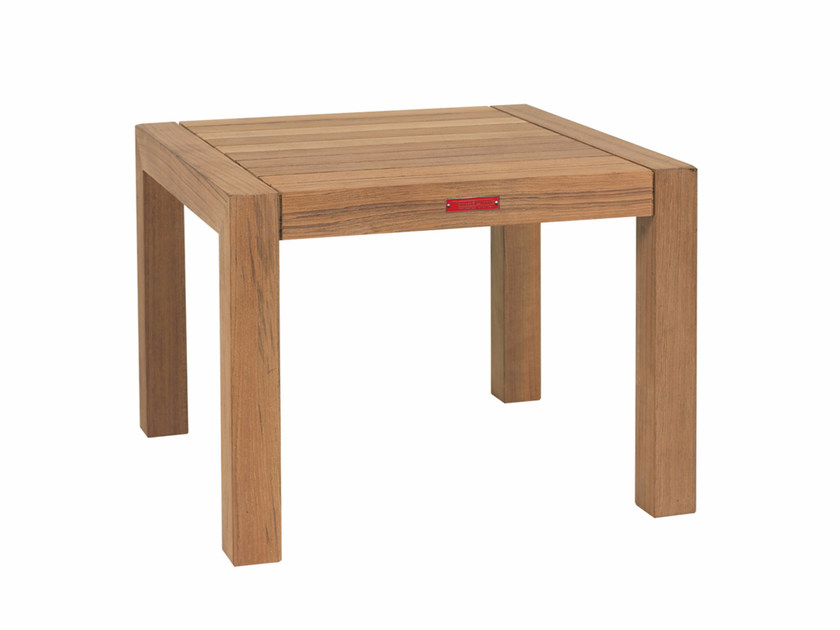 Contemporary style low wooden garden side table IXIT | Coffee table - ROYAL BOTANIA
