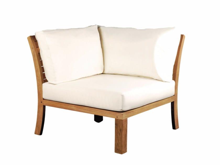 Corner upholstered fabric garden armchair IXIT | Corner garden armchair - ROYAL BOTANIA