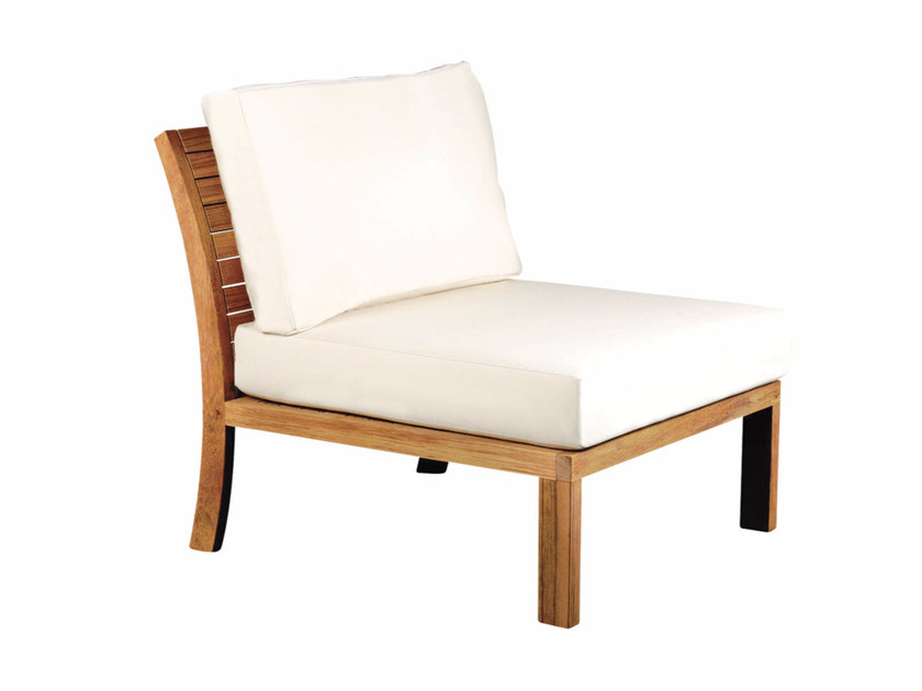 Upholstered fabric garden armchair IXIT   Garden armchair - ROYAL BOTANIA