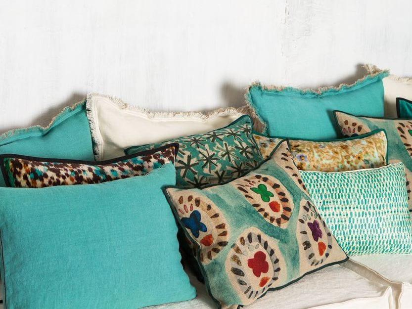 rechteckiges kissen aus leinen mit abnehmbarem bezug jaipur by litis. Black Bedroom Furniture Sets. Home Design Ideas