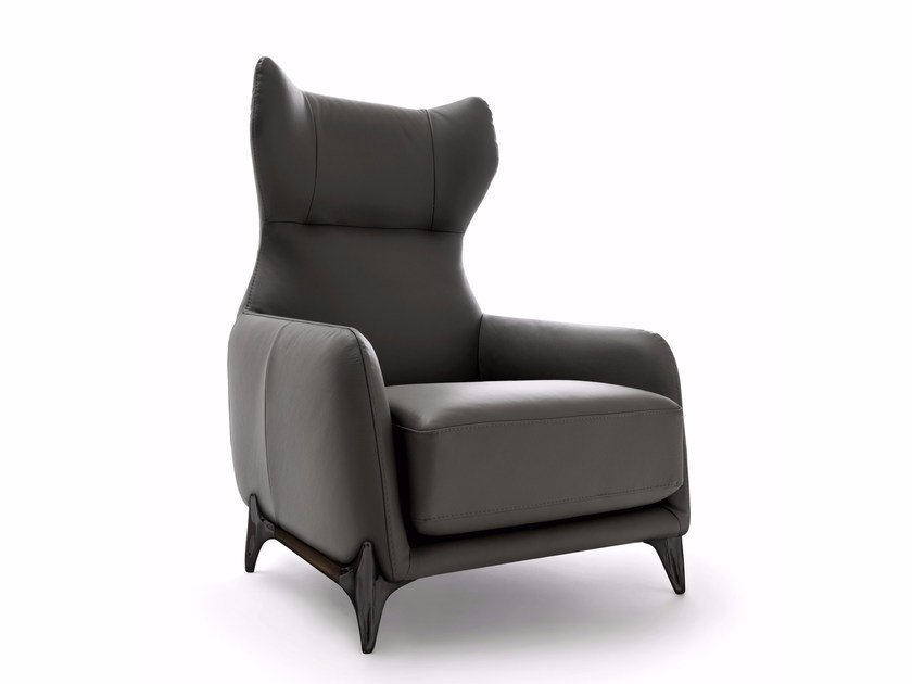 High-back armchair with armrests DUFFLÉ | High-back armchair - Ditre Italia