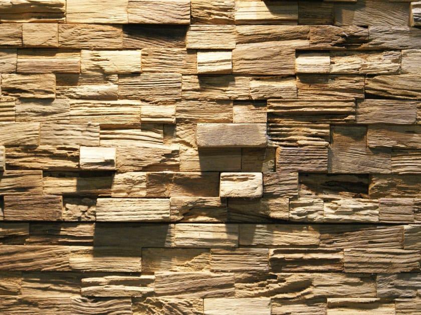 Reclaimed wood 3D Wall Tile JAVA RUSTIC - Teakyourwall