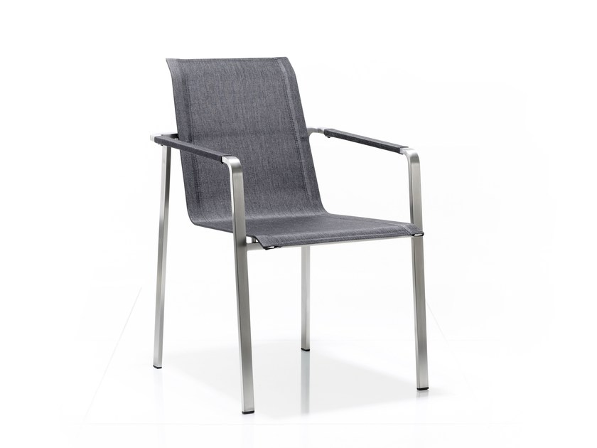 Stackable garden chair with armrests JAZZ | Stackable chair by solpuri