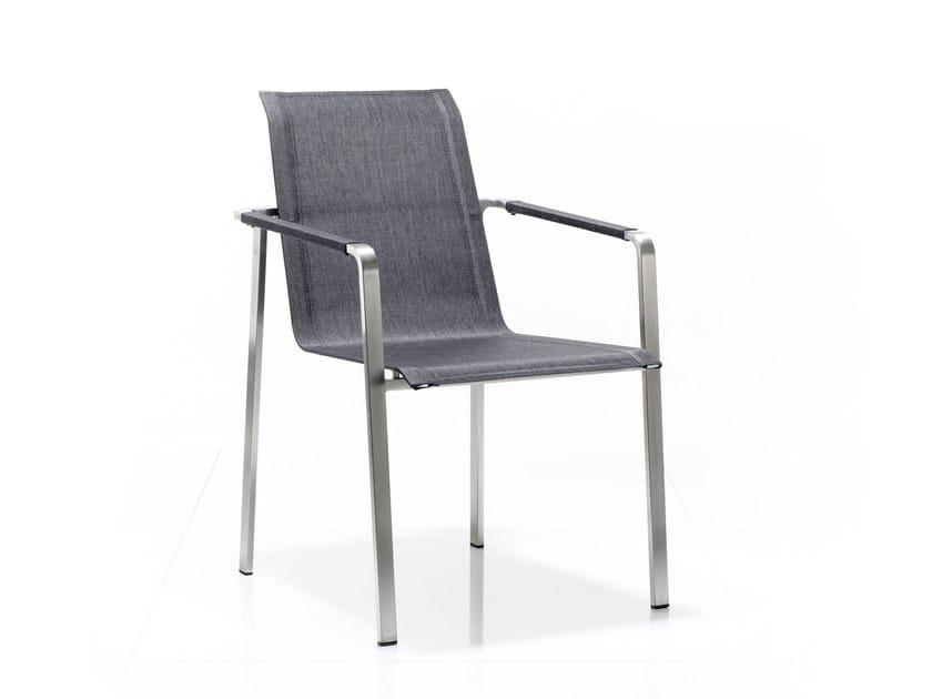 Sedia in acciaio inox con braccioli JAZZ | Sedia - solpuri