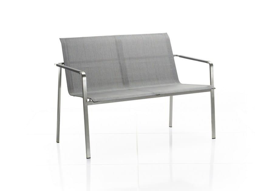 Garden bench with armrests JAZZ | Garden bench - solpuri