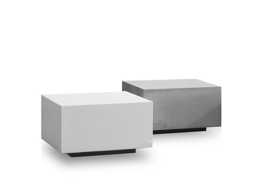 Square cement coffee table JENGA | Square coffee table - BAXTER
