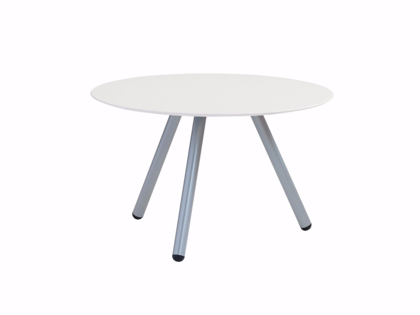 Round coffee table with steel legs Jet 521T - Metalmobil