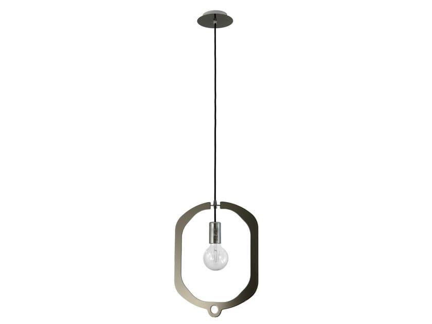Metal pendant lamp JEWEL 45 BLACK CHROME by Hind Rabii