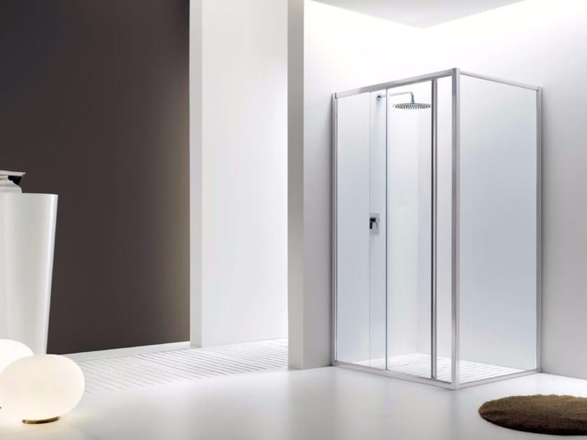 Box doccia angolare in vetro con porta scorrevole JOLLY - 2 - INDA®