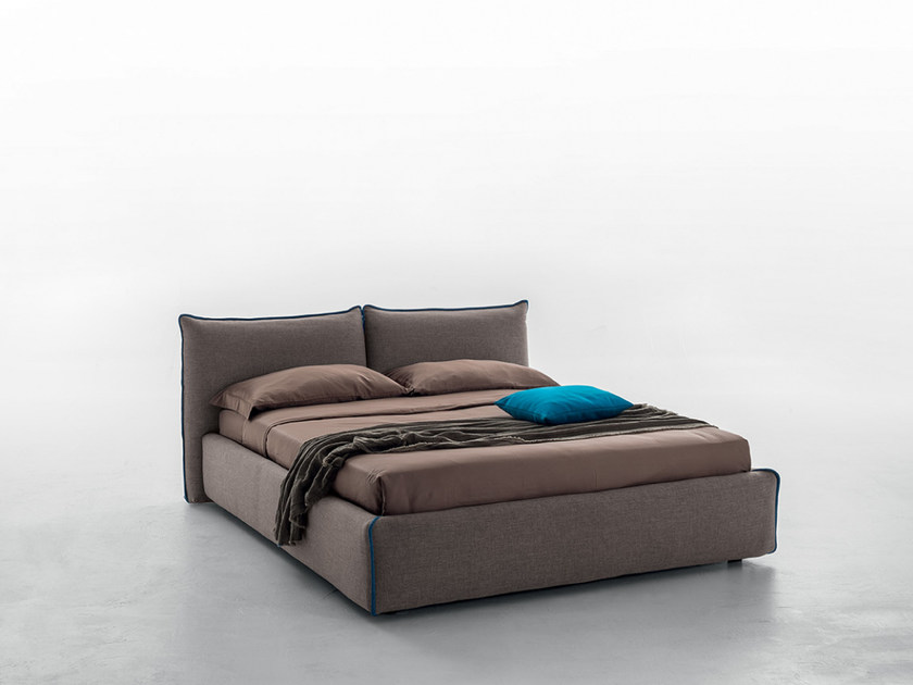 Upholstered fabric double bed JOY by Tonin Casa