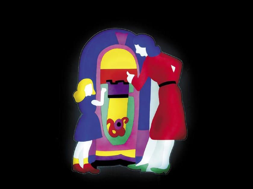 Pannello decorativo luminoso in vetro acrilico juke box - Pannello decorativo design ...