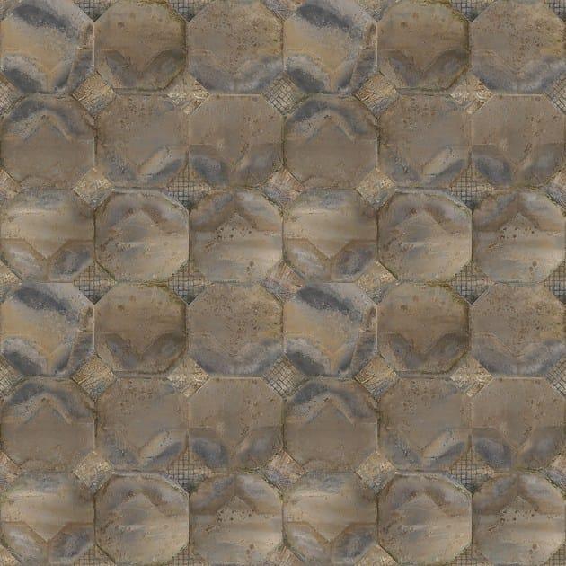 Carta da parati effetto pietra geometrica panoramica k'op ...