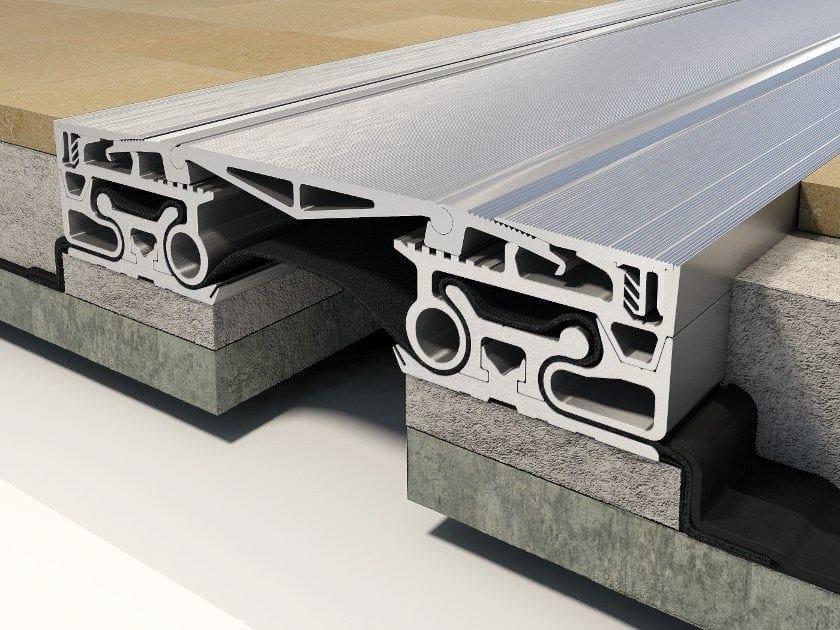 Giunto per pavimento in alluminio k roof tecno k giunti - Giunti di dilatazione per pavimenti esterni ...