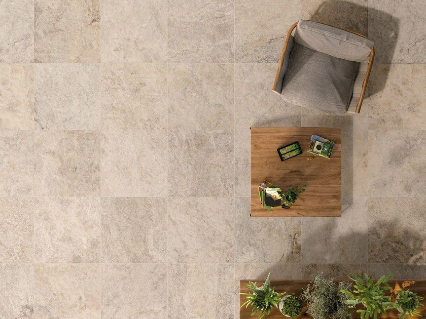 Anti-slip frost proof porcelain stoneware flooring with stone effect K2 SOURCE BEIGE - CERAMICHE KEOPE