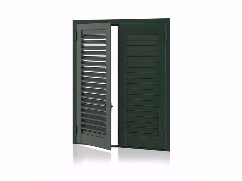 Aluminium shutter with adjustable louvers with overlap louvers K80 Overlap Adjustable - Kikau