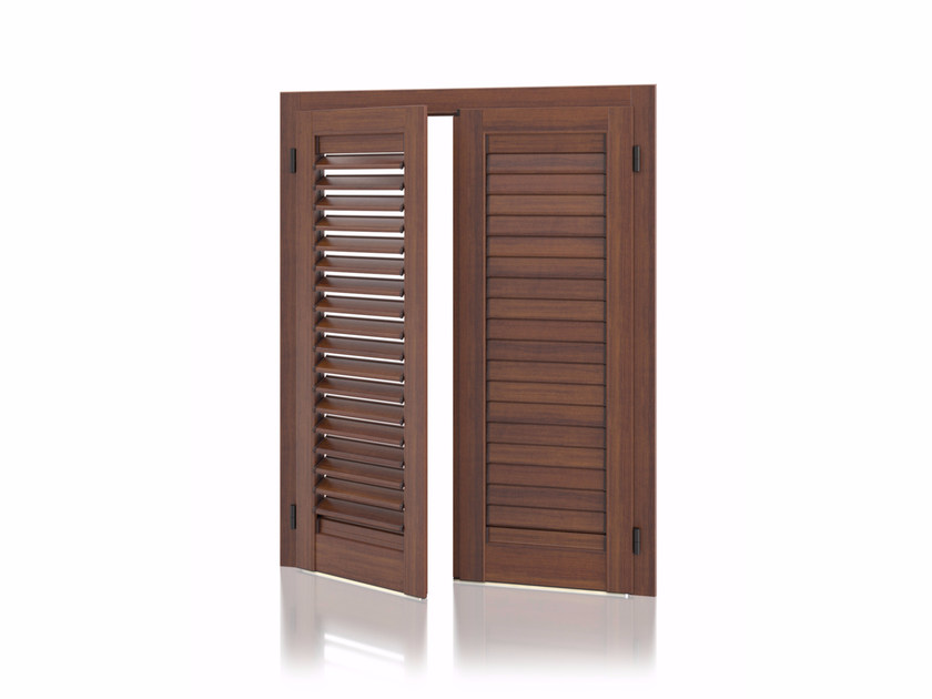 Aluminium shutter with adjustable louvers with overlap louvers K90 Overlap Adjustable by Kikau