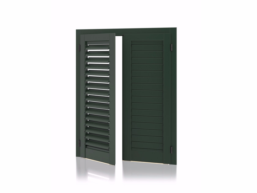 Aluminium shutter with adjustable louvers with planar louvers K90 Planar Adjustable by Kikau