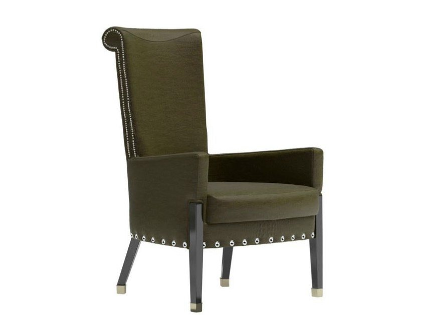 Upholstered easy chair with armrests KADO L - Capital Collection by Atmosphera