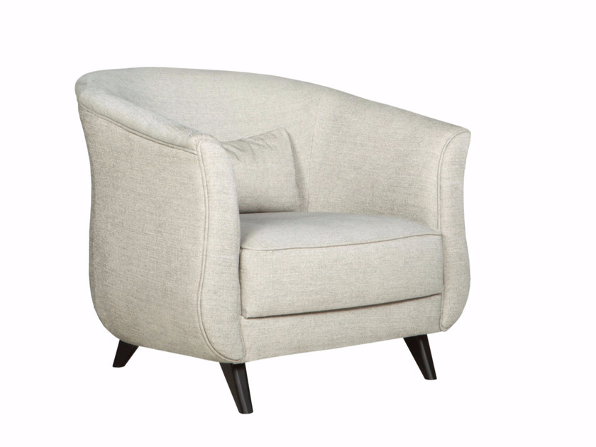 Upholstered fabric armchair with armrests KAJSA | Fabric armchair - SITS