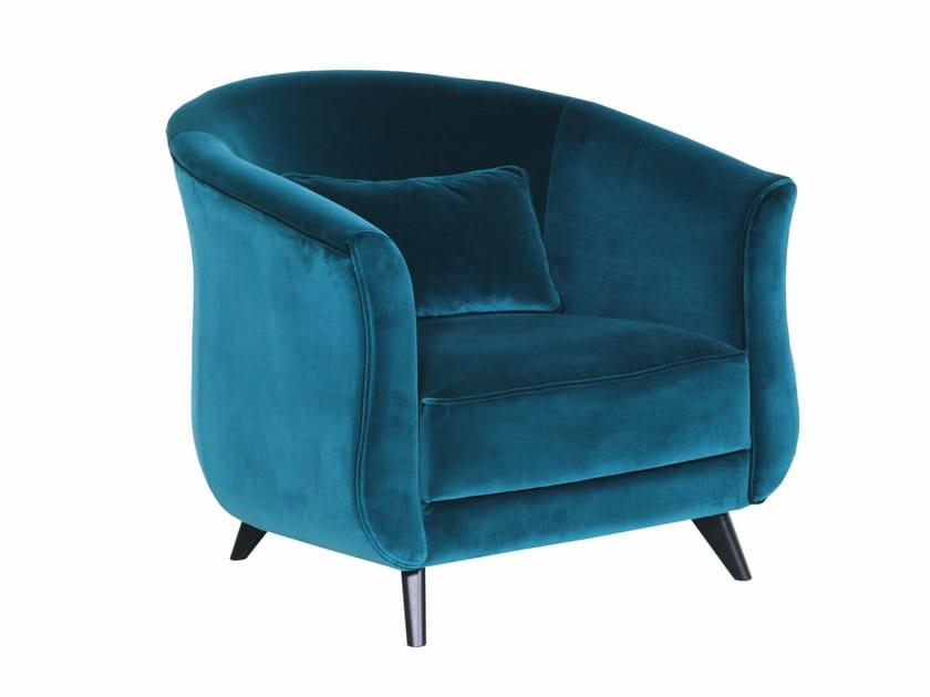 KAJSA Fabric armchair by SITS design Ian Archer
