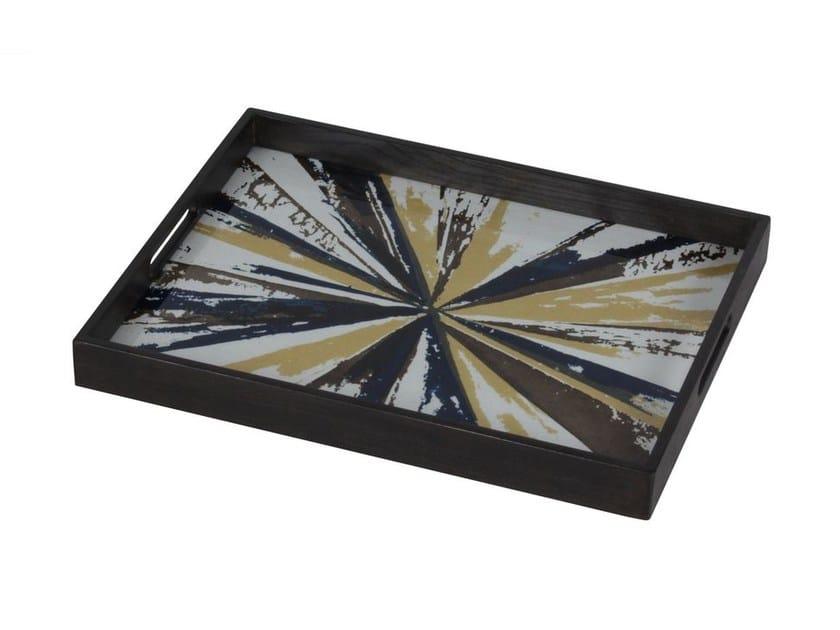Rectangular wood and glass tray KALEIDOSCOPE | Rectangular tray - Notre Monde