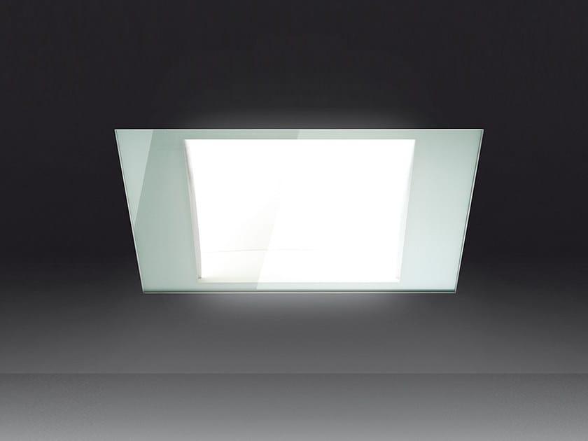 Direct light fluorescent tempered glass built-in lamp KALIFA | Built-in lamp - Artemide Italia