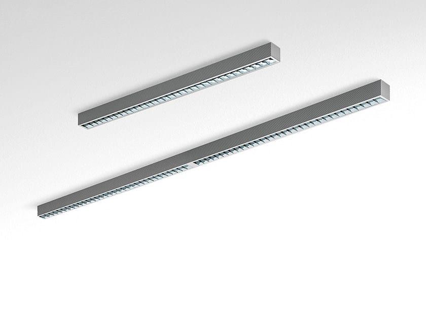 Direct light fluorescent modular extruded aluminium ceiling light KALIFA II | Ceiling light - Artemide