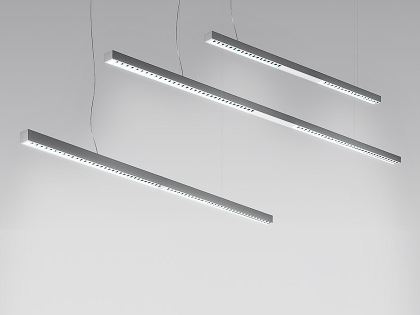 Direct light fluorescent extruded aluminium pendant lamp KALIFA II | Pendant lamp - Artemide Italia