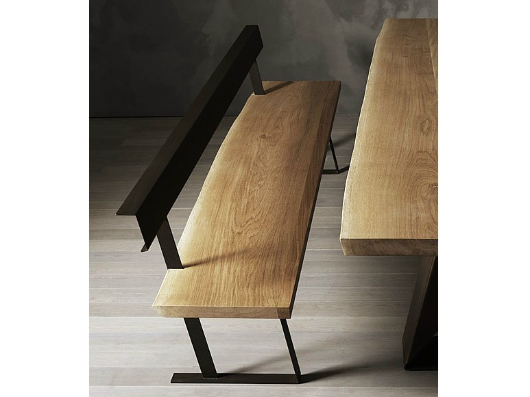 Steel and wood bench KALONGA - ELITE TO BE