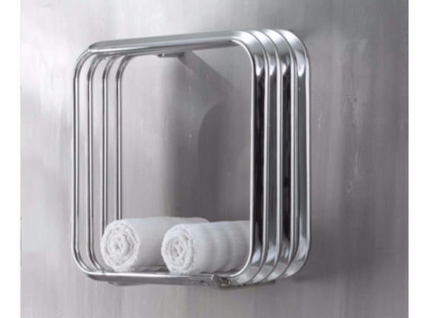 Chrome wall-mounted towel warmer KALOS 50-50 - Hotwave