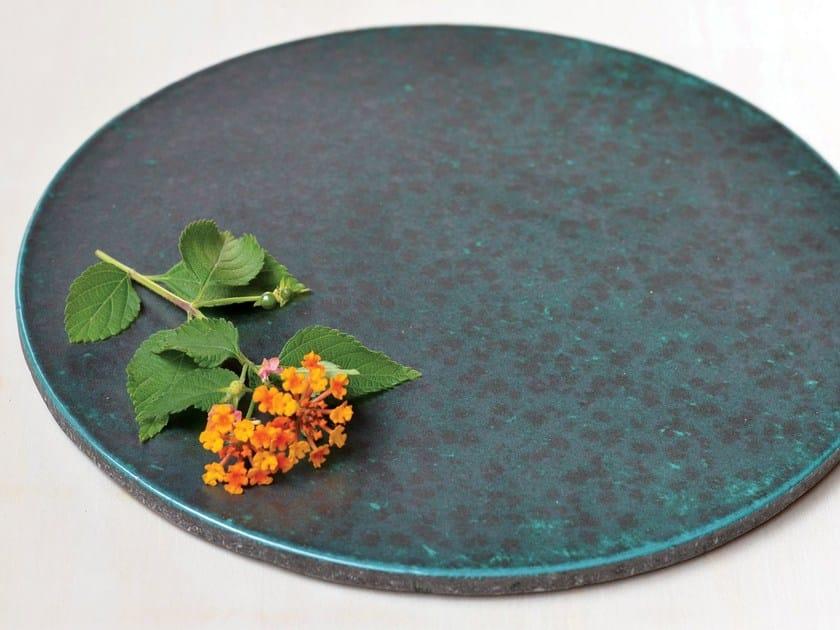 Lava stone tray KALURI OSSIDO by Made a Mano
