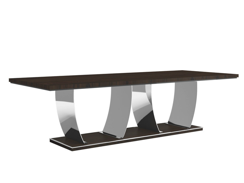 Rectangular wooden table KARAMEL | Table - Capital Collection by Atmosphera