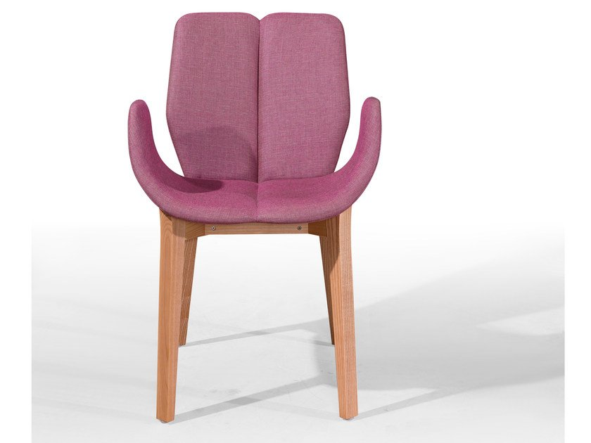 Upholstered chair with armrests KARMA CB by Fenabel