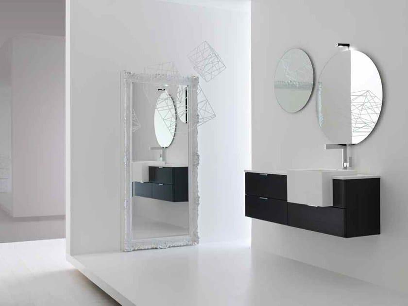 Lacquered single vanity unit KARMA - COMPOSITION 23 - Arcom