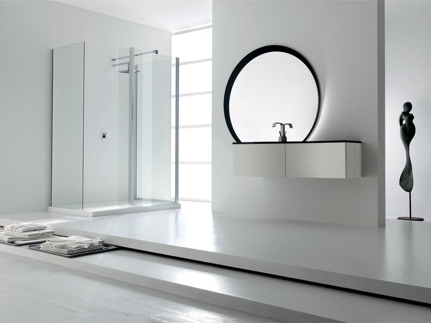 Lacquered single vanity unit KARMA - COMPOSITION 25 - Arcom