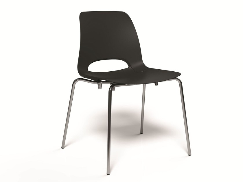 Plastic guest chair KATIA | Easy chair - RIFLESSI