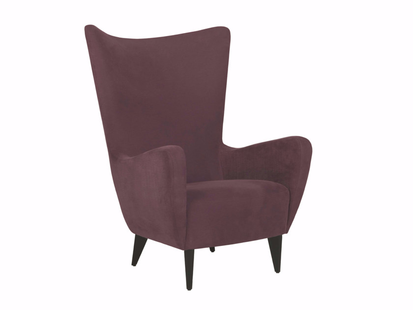 Upholstered fabric armchair with armrests KATO | Armchair - SITS