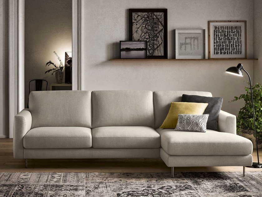 Sectional fabric sofa with chaise longue KENDAL | Sectional sofa - Felis
