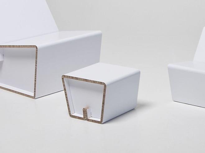Low cardboard stool KENNO XS - SHOWROOM Finland
