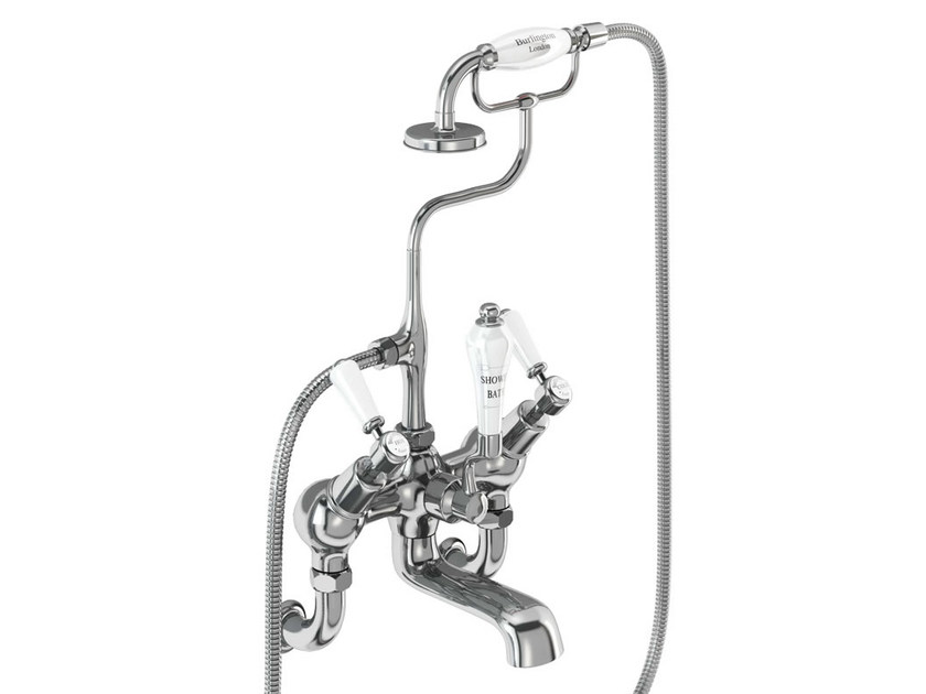2 hole wall-mounted bathtub tap with hand shower KENSINGTON | Bathtub tap with hand shower - Polo