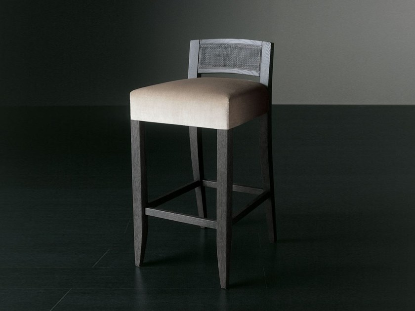 Upholstered stool with removable cover KERR DIECI - Meridiani