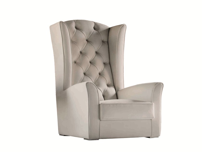 Tufted upholstered armchair with armrests KESY LUX - Capital Collection by Atmosphera