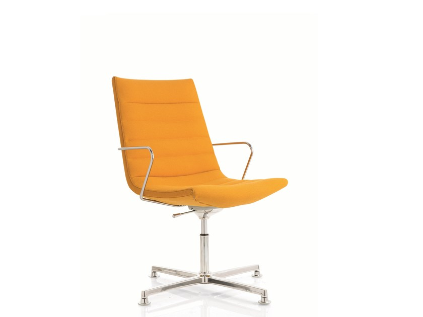 Swivel task chair with 4-Spoke base with armrests KEY | Task chair with 4-Spoke base - Emmegi